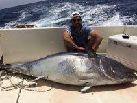 Inmenso pez a bordo