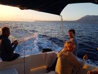 Disfrutando del mar desde el barco