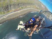 Volando en trike en La Laja