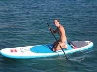 Alumna de la ruta de paddle surf en Canarias