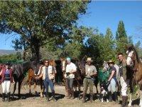 Jinetes durante la ruta a caballo