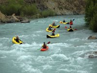 Whitewater kayaking descents