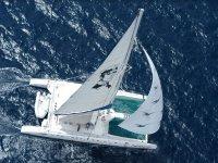 aventurero catamaran from above