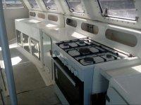 Cocina de gas en el catamaran