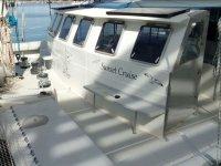 Deck of the catamaran