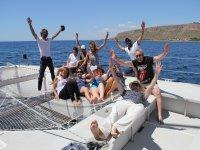 Fun times in the catamaran