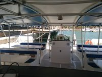 Space for the catamaran´s passengers