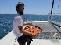 A delicious paella on board