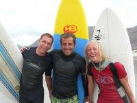Clases con los surfistas
