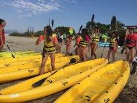 Dia de kayaks en el mar