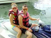 As a couple on the jet ski in Cambrils