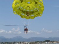 Flying in parasailing over Cambrils