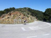 Tomando direccion Estepona en bici