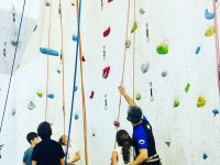 Climbing class for young people