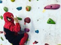 A climbing Spiderman