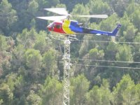 Helicopter flight in Barcelong