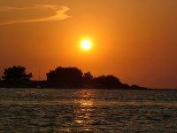 A sea at sunset