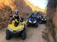 En el camino con los quads