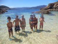 Snorkel en la orilla