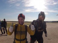 After the parachute jump in Bollullos