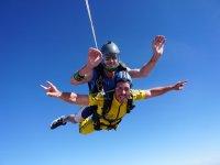 Tandem parachute open in Seville
