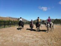 Avvio del percorso equestre