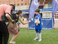 Una giovane stella del calcio