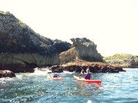 Con kayak nel mare