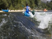 Descent in canoes