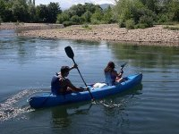 Canoa a due posti nelle Asturie
