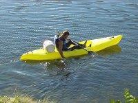 Kayak da mare singolo nelle Asturie