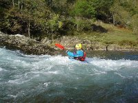Whitewater in canoa