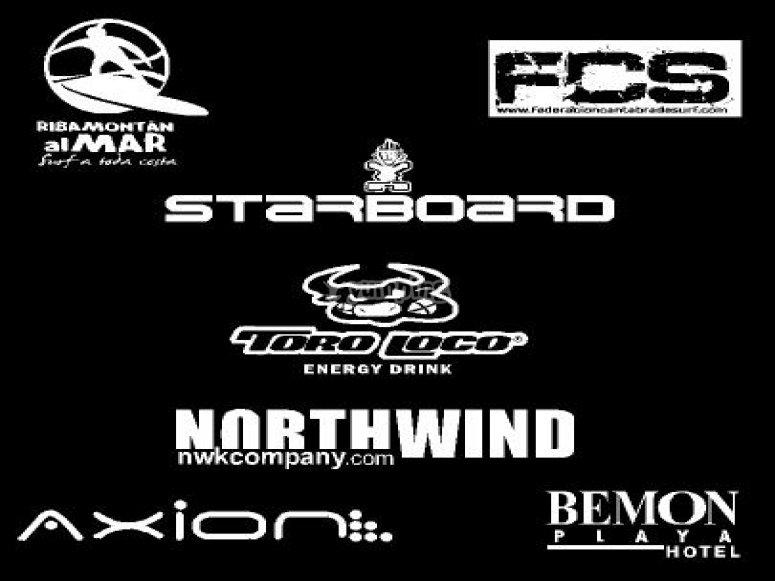 Algunos patrocinadores del campeonato