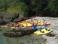 Kayaks en A Arnela