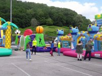 Outdoor inflatable castles