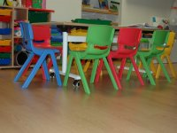 Colorful little chairs