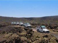 Jeeps en ruta en Fuerteventura