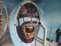 Cabina del simulador de vuelo