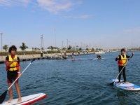 Saludando desde las tablas de paddle