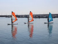 Learning on three windsurfing boards