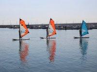 Aprendiendo en tres tablas de windsurf