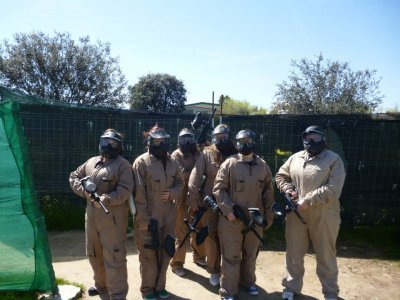 Paintball en Navalcarnero gymkana BBQ barra libre