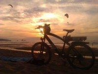 在夕阳在海滩上