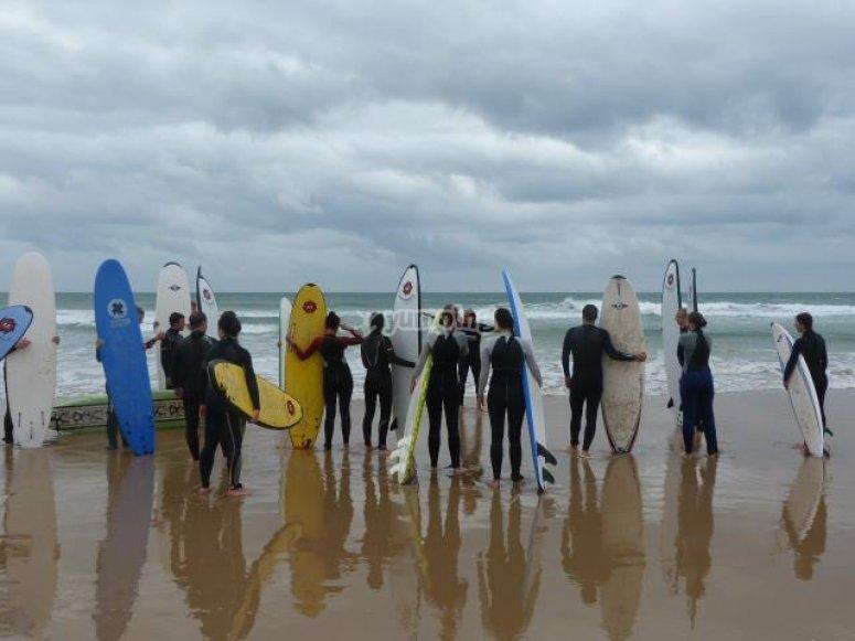 Aprender surf en Cádiz