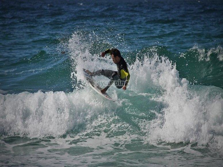 Cursos de surf en A Coruña