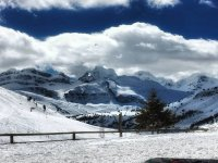 Un entorno inmejorable para hacer snowboard