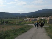 Caminando para llegar al pueblo