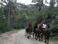 Paseo a caballo hacia el embalse valenciano