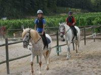 骑骑马在塔拉戈纳骑马课程