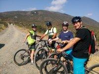 ruta en bici por la montana